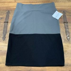 LuLaRoe Cassie Knit Color Block Skirt Size XL NWT
